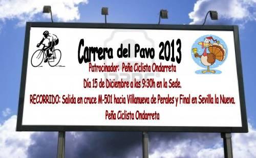 cartel carrera pavo2013