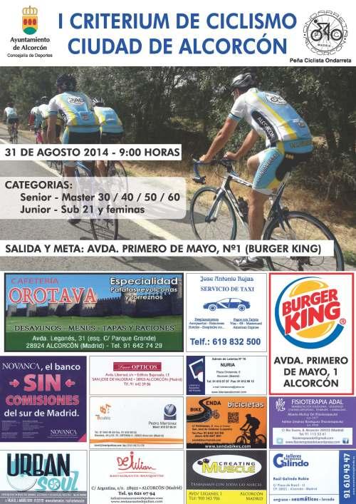 cartel ciclista criterium